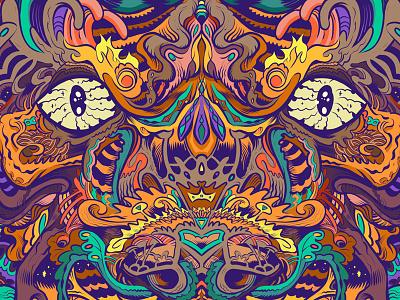 Eyes wip details ornate tiger eyes clip studio paint line art color art illustration