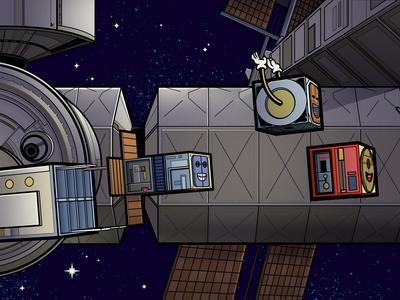 Happy Cube Satellites | Interior Spread