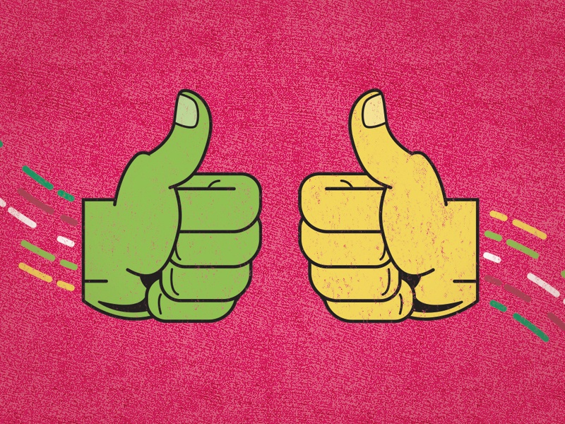 Thumbs up illustration illustrator texture simple floating vector hands
