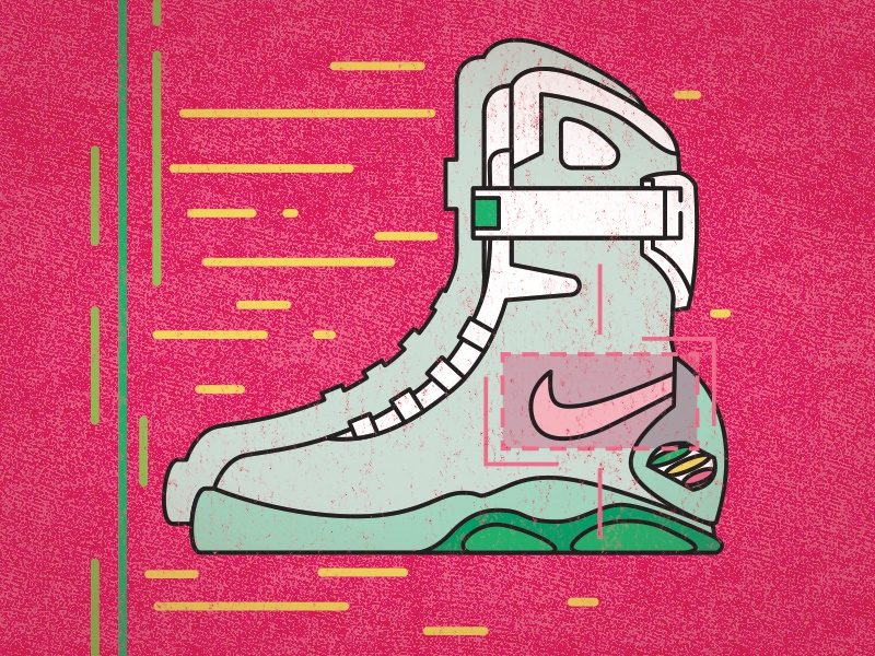 Some Future Kicks simple back to the future nike high-tops sneakers illustrator vector illustration