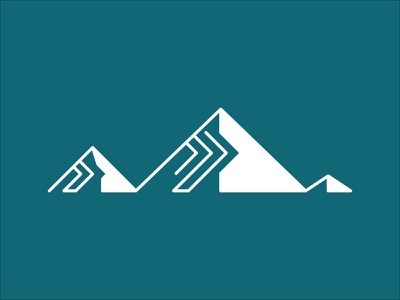 Synergy Summit movement forward lines minimal simple mountains iconography icon branding brand logo