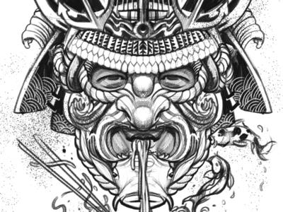 Samurai Noodle Sketch