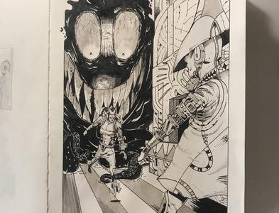 Bait   Inktober 2019 art fantasy scifi creature brush drawing inking ink illustration inktober2019 inktober