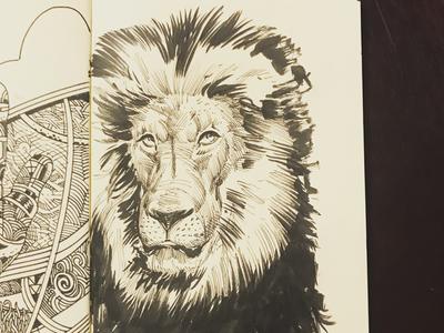 Lion   Inktober 2019 lion illustration drawing sketch inktober 2019 inktober