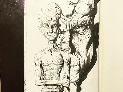 Frail   Inktober 2019 drawing sketch illustration inktober2019 inktober