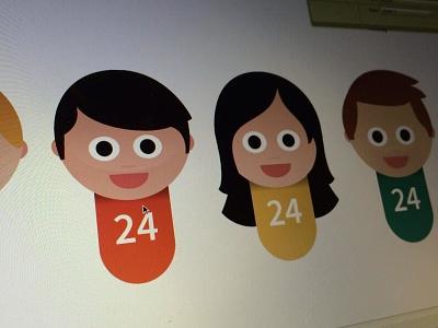 ribotars 2.0 WIP ribot avatars wip vector characters faces