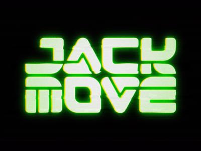 Jack Move Animated Logo logotype brand identity typography motion graphics glitch old skool scifi retro jrpg logo design cyberpunk branding indie game scanlines retro future 1980s crt logo video game jack move