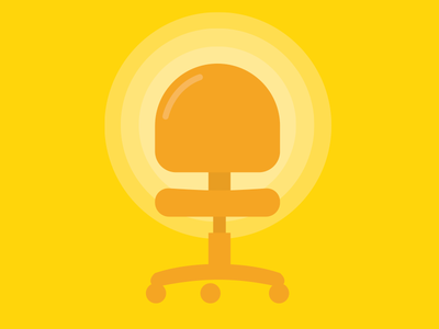 Chair sketch yellow chair vector ribot illustration