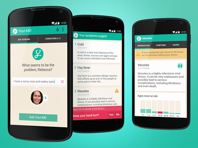 Your.MD mobile search interface design ui medical android