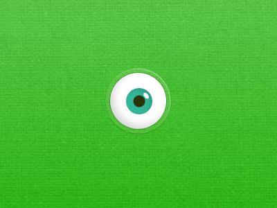 Something's coming. eye monster green