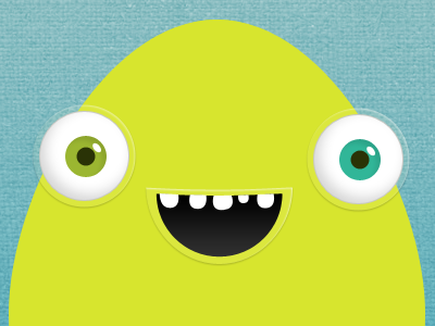 A monster test monster eye eyes green yellow