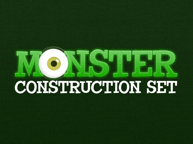 Monster Construction Set eyeball eye green kids toy game ios monster