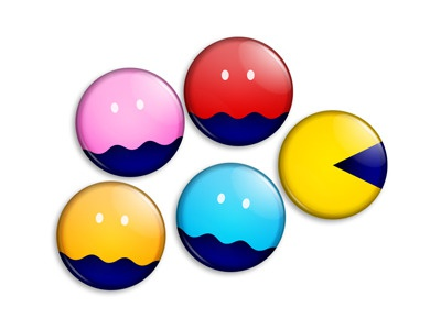 Video games namco buttons video games pac-man illustration