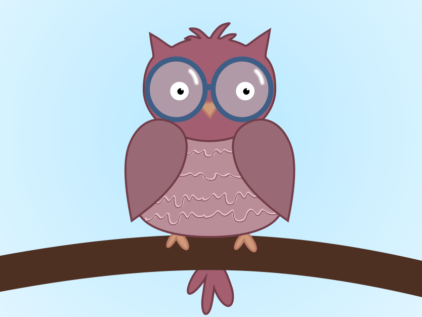 just an owl owl illustration