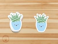 Succulent stickers!!