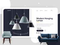 Daily 001 | Iluminis - Furniture Ecommerce Website daily ui lamp ios ecommerce clean ui design user interface shopping shopping app shop web app web design clean ui clean clean design furniture store furniture design furniture ui app dashboard web uiux