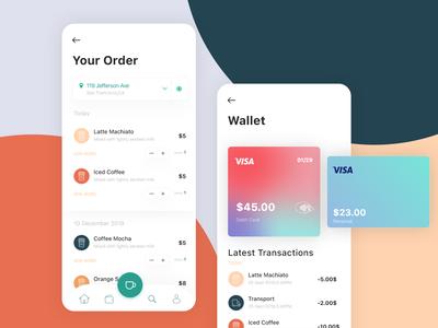 Coffee App ☕ - Wallet & Order UI