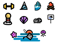 Outdoor/Beach Icons