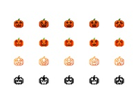 Pumpkin Emoticon with four style
