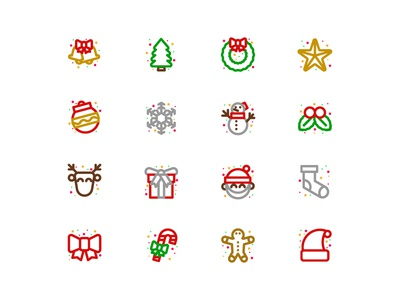 Christmas Icon icons design christmas icons pack vector design ui icons icon