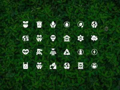 Ecology Icons green ux ui climate earth day environtment ecology icons icon