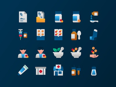 Pharmacy icons healthcare medical pharmacy illustraion iconography icon set icons pack icon design icons icon
