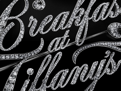 Breakfast at Tiffany's  poster typograhy logo design