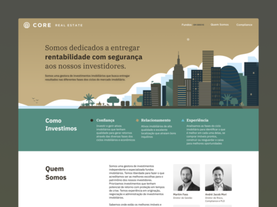 Core Real Estate Landing Page webflow illustration web ui page landing