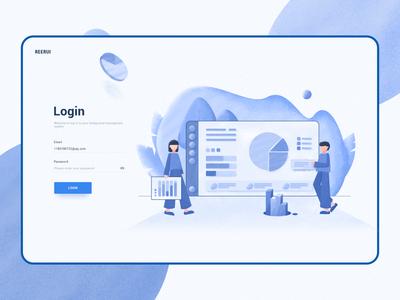 Website login interface