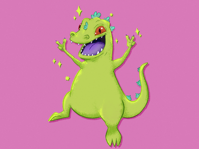 Kawaii Reptar rugrats illustration procreate