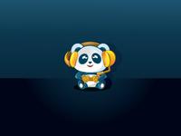 Panda with Headphone