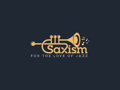 Saxism Music Logo Design