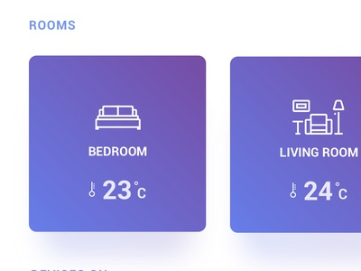 Smart home app clean blue home smart home
