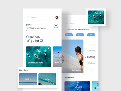 X-Game app blue surf clean app x-game
