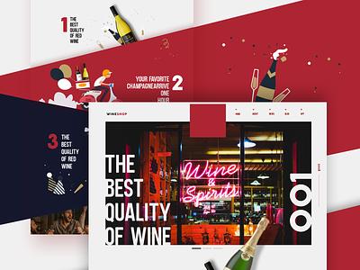 Wine E-Commerce App webside red wine web