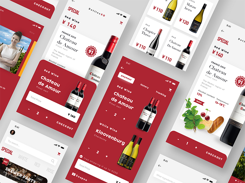 The wine shop app red clean wine