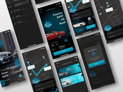 Car Booking App 3 ui black car booking