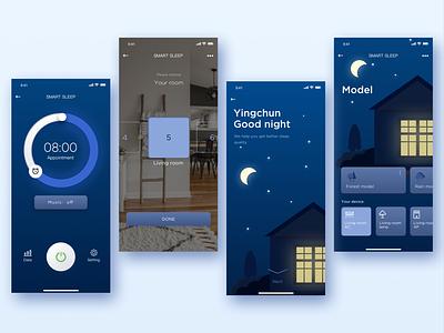 Smart home-Smart sleep smart sleep sleep clean blue smart home