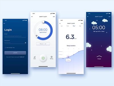 Smart home-Smart sleep 2 ui blue clean smart sleep smart home