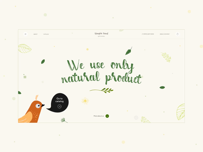 Simple food/main page web ui ux motion shop design minimal website catalog clean simple product natural cooking gastronomy drink food