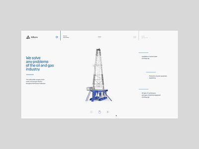 Аlliance, website minimalism industrialequipment motiondesign chipsa website userinterface interface ux uiux oiltower interactiondesign cleandesign ui
