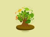 The circle of nature digitalart ipad art doodles illustration procreate