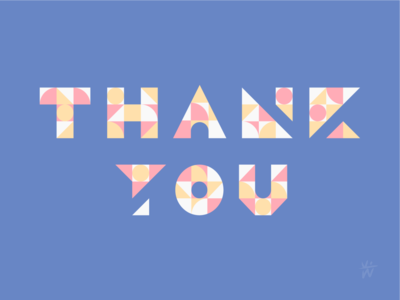 Geo Thank You Note typedesign illustrator thankyounote typography