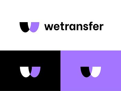 wetransfer logo icon colorfullogo monogram symbol geometrical brand colorful logotype branding logo