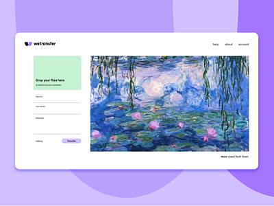 wetransfer website concept icon purple interface ui monogram symbol brand logotype branding logo