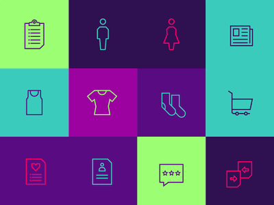 [Icon Set] ITSINK.com brand branding outline colorful interface ui ux minimalism geometrical icon