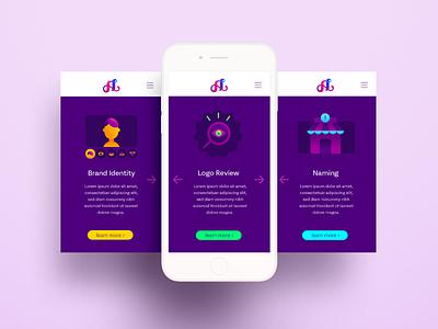 Amanda Louisi Website gradient illustration gradient illustrations web interface design interface ux ui