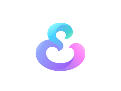 Groovy & Curvy vector ui icon geometrical colorfullogo typography monogram brand symbol gradient colorful logotype branding logo