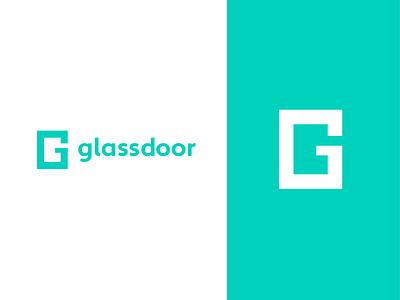 Glassdoor Logo Studies monogram minimalist minimalist logo simple logo brand geometrical branding logotype logo glassdoor
