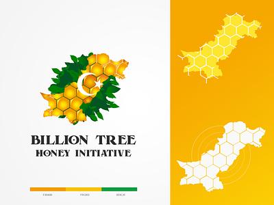Billion Honey Tree Initiative Logo billion tree honey logo billion tree honey billion tree honey tree initiative honey tree vector branding brand identity logo